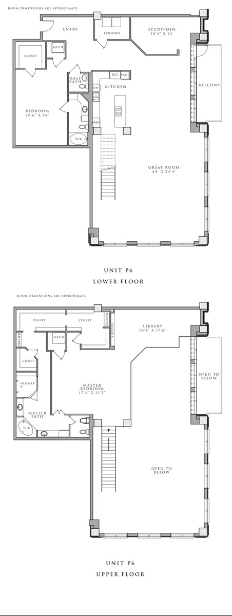 3,738 sq. ft. P6 floor plan