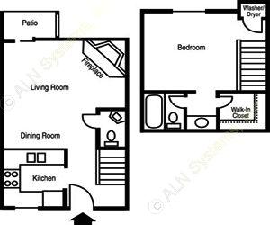 615 sq. ft. A1/SOCO floor plan