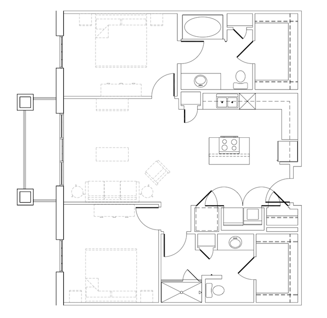 1,099 sq. ft. Edie floor plan