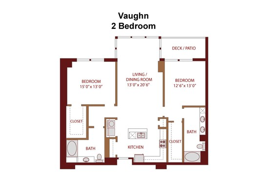 1,380 sq. ft. Vaughn C7s floor plan