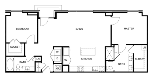 1,135 sq. ft. C9/Park floor plan