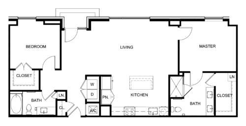 1,135 sq. ft. C9/Park floor plan