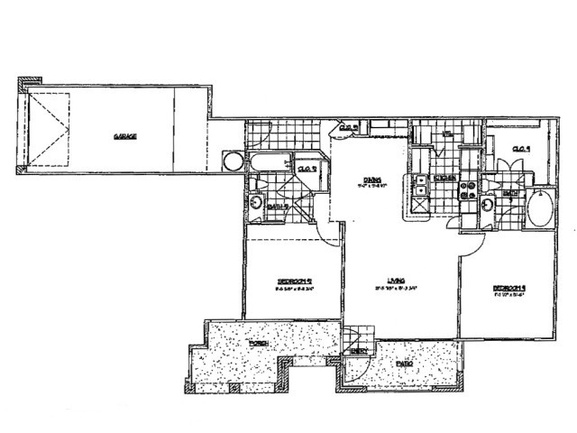 1,025 sq. ft. E 60 floor plan