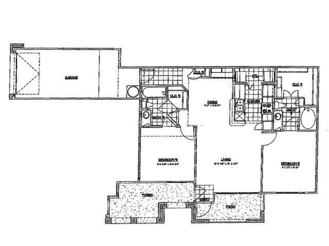1,025 sq. ft. E 60 floor plan