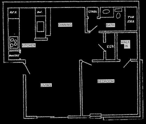 610 sq. ft. floor plan
