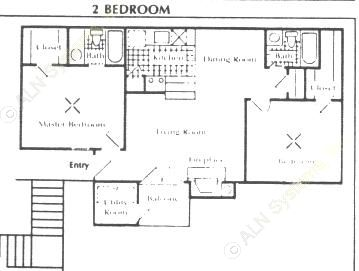 932 sq. ft. D floor plan