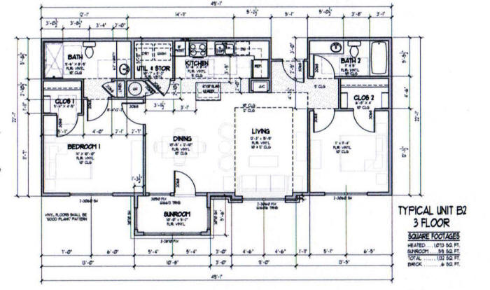 1,137 sq. ft. B2-50% floor plan