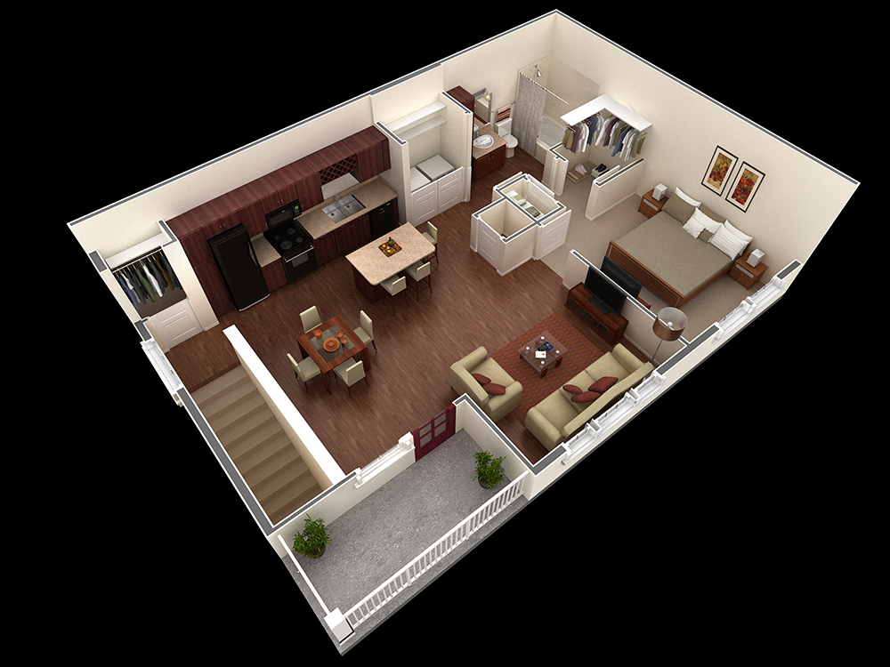 889 sq. ft. Nelson floor plan