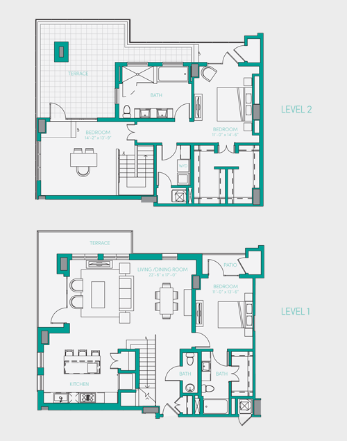 2,041 sq. ft. PH 2 floor plan