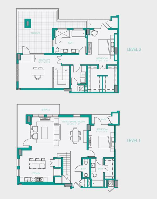 2,041 sq. ft. PH 2 floor plan