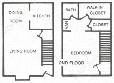 720 sq. ft. 60 floor plan