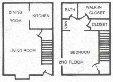 720 sq. ft. 60 floor plan