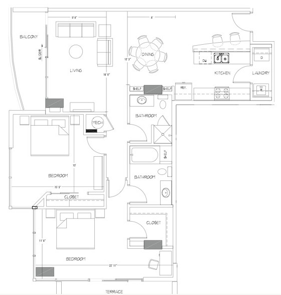 1,334 sq. ft. B10 floor plan