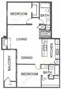 920 sq. ft. D/Dominion floor plan