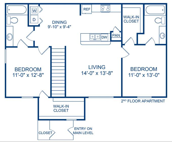 1,031 sq. ft. Rio Grande floor plan
