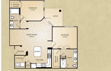 1,161 sq. ft. Comal floor plan