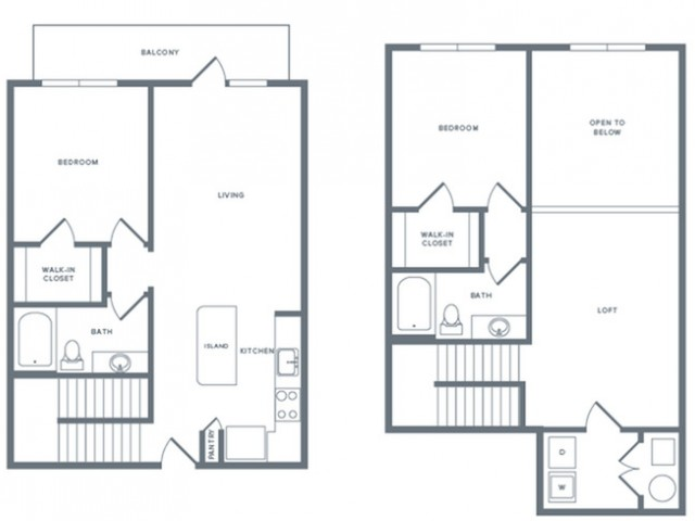 1,427 sq. ft. B6TH floor plan