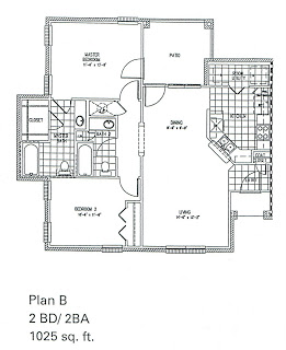 1,025 sq. ft. B/MKT floor plan
