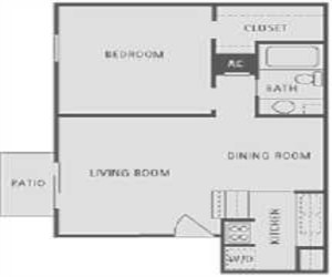 581 sq. ft. floor plan