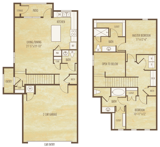 1,374 sq. ft. B4A floor plan