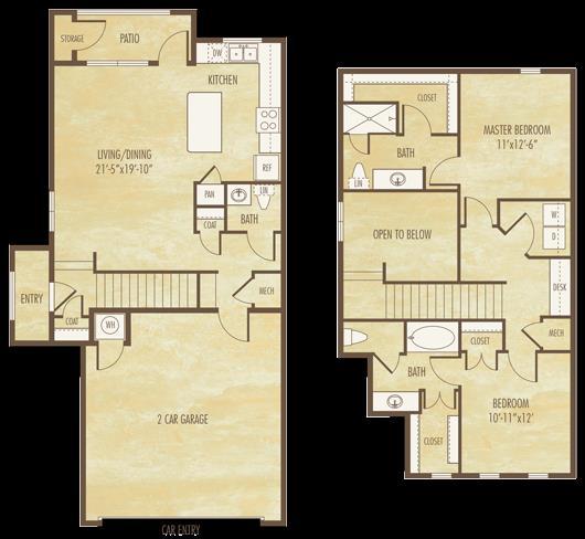 1,374 sq. ft. B4 floor plan