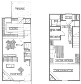 840 sq. ft. Cimarron floor plan