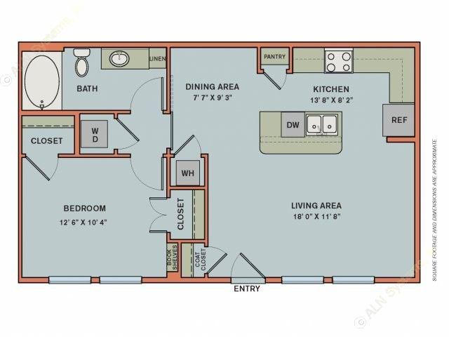 730 sq. ft. EA2.2 floor plan