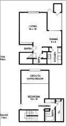 907 sq. ft. to 910 sq. ft. A7 floor plan