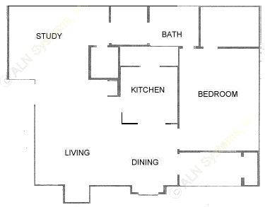824 sq. ft. A5 floor plan