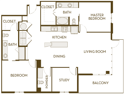 1,497 sq. ft. B2.5AD floor plan