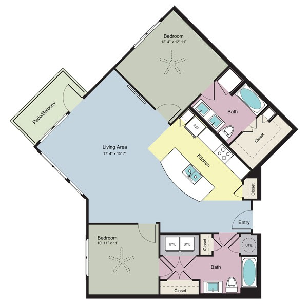 1,197 sq. ft. Connect (B2G) floor plan
