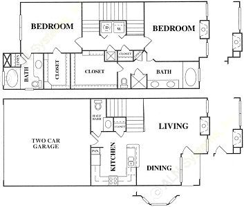 1,418 sq. ft. E1 w/GAR floor plan