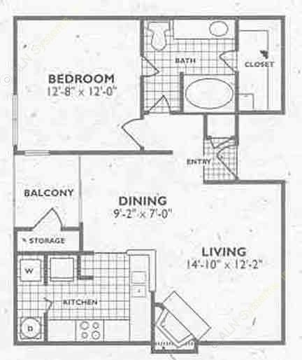 739 sq. ft. to 749 sq. ft. A2A/A1A floor plan
