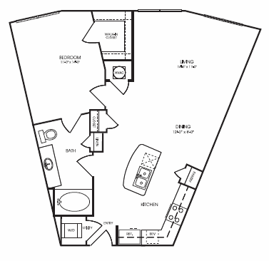 832 sq. ft. to 908 sq. ft. Overbrook floor plan