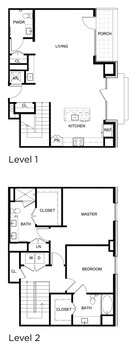1,647 sq. ft. C5 floor plan