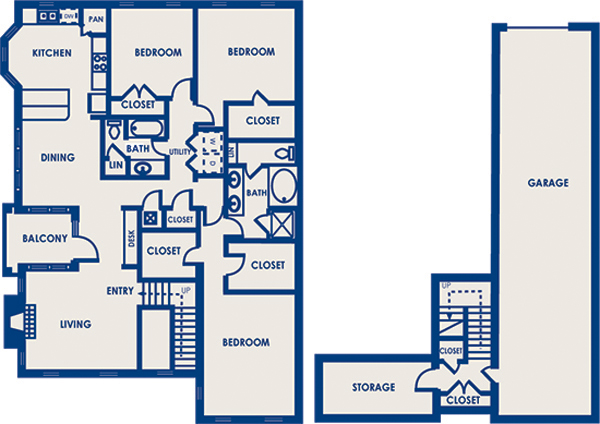1,815 sq. ft. 32C floor plan