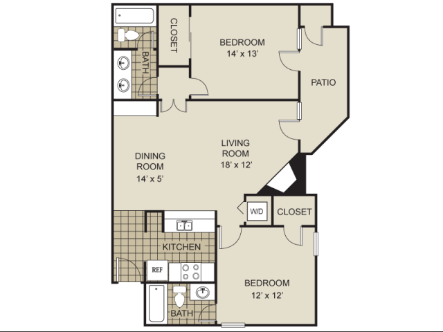 983 sq. ft. B9-C floor plan