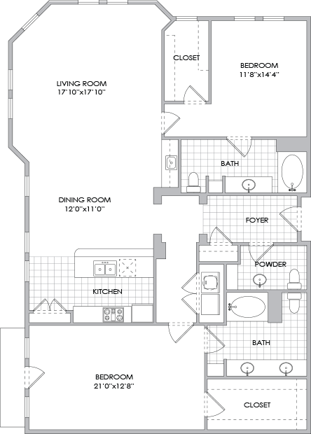 1,747 sq. ft. B12 floor plan