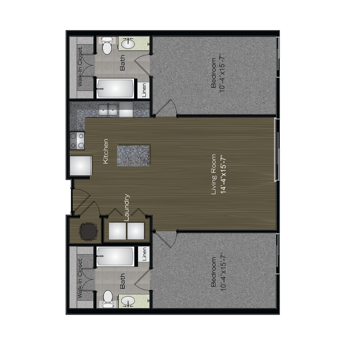 1,031 sq. ft. Travis floor plan