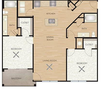 1,202 sq. ft. B3/Sage floor plan