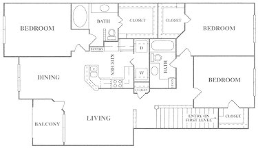 1,461 sq. ft. C1 floor plan