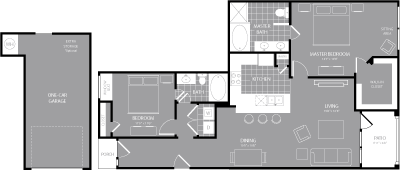 1,260 sq. ft. B5 floor plan