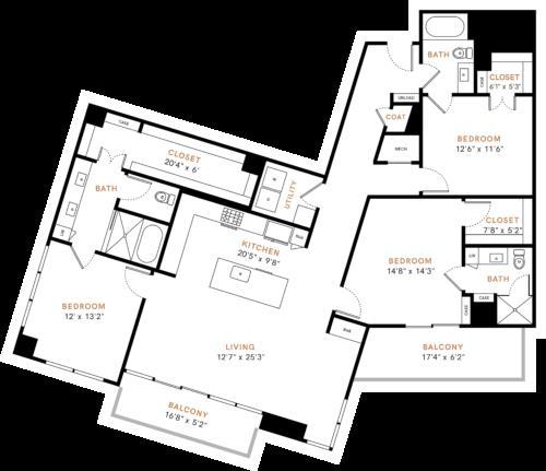 1,808 sq. ft. C1 floor plan