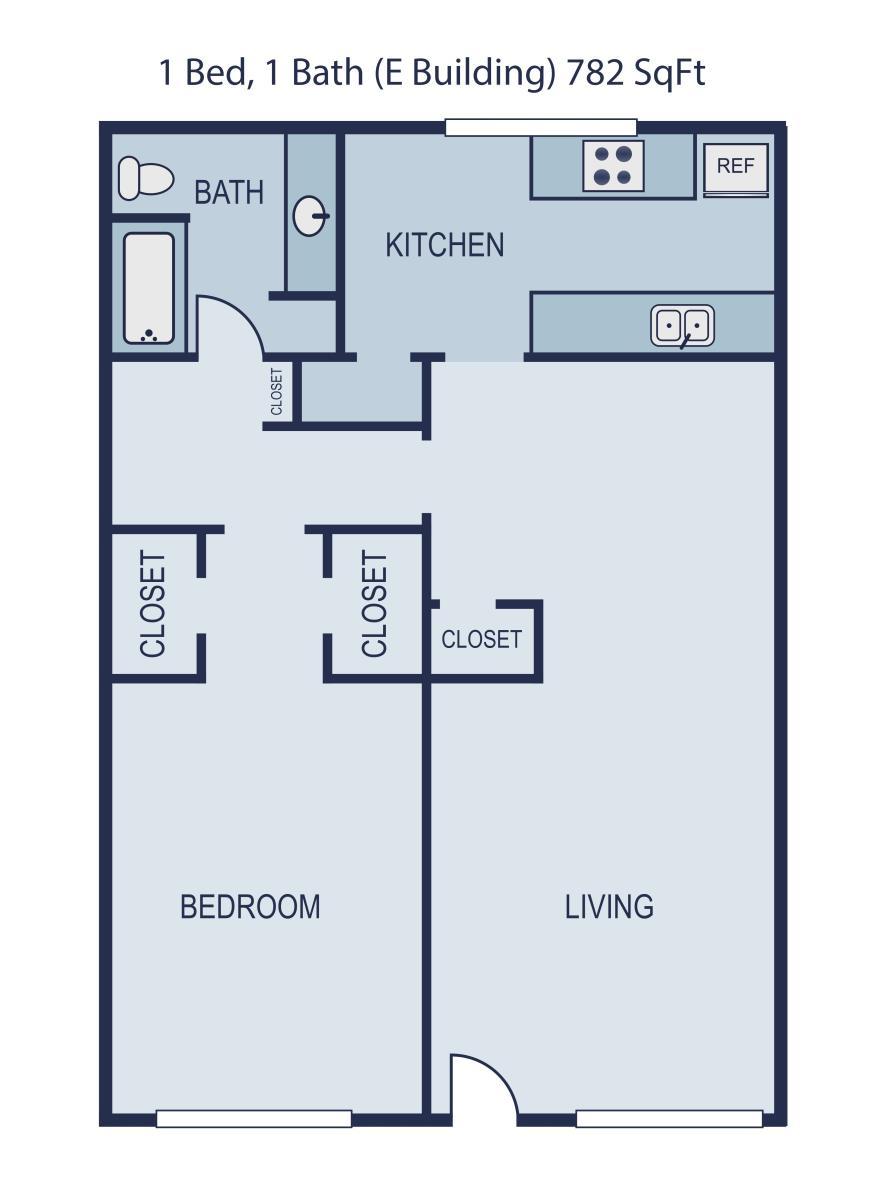 782 sq. ft. Dean floor plan