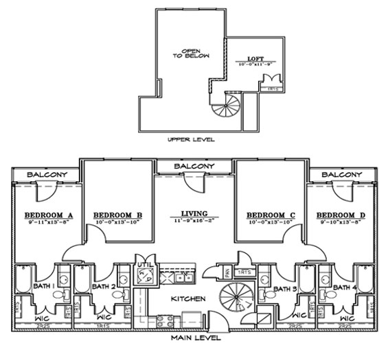 1,595 sq. ft. D3L floor plan