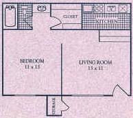 475 sq. ft. A floor plan
