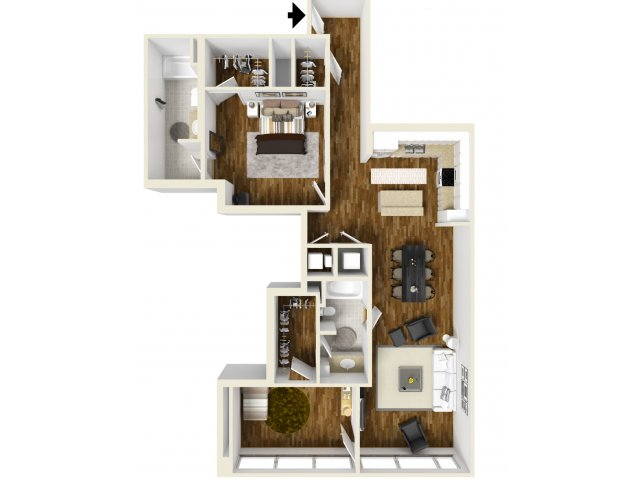 1,346 sq. ft. Reunion floor plan