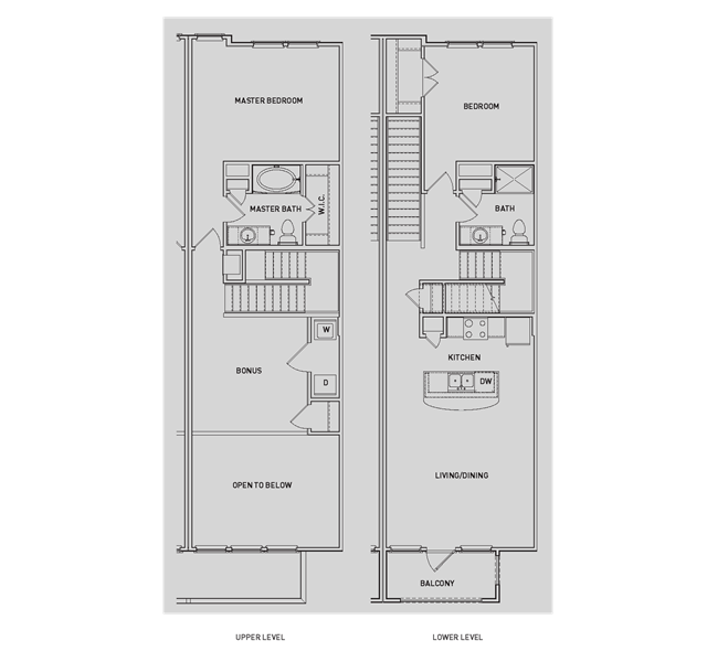 1,456 sq. ft. BB4-TH/BB4-TH-G floor plan