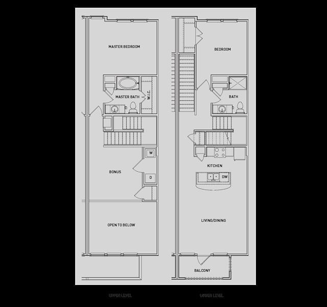 1,456 sq. ft. BB4-TH/BB4-TH-G floor plan