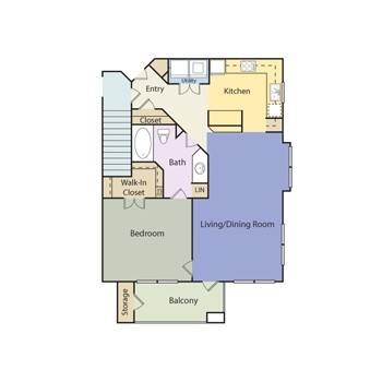 818 sq. ft. Westminister - A1E II floor plan